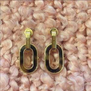 Michael Kors tortoise earrings NWOT!